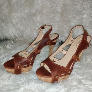 Guess brown heels